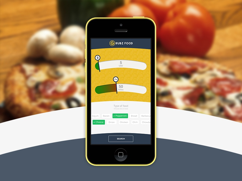 Grubz Food user experience user interface mobile iphone app application ux ui