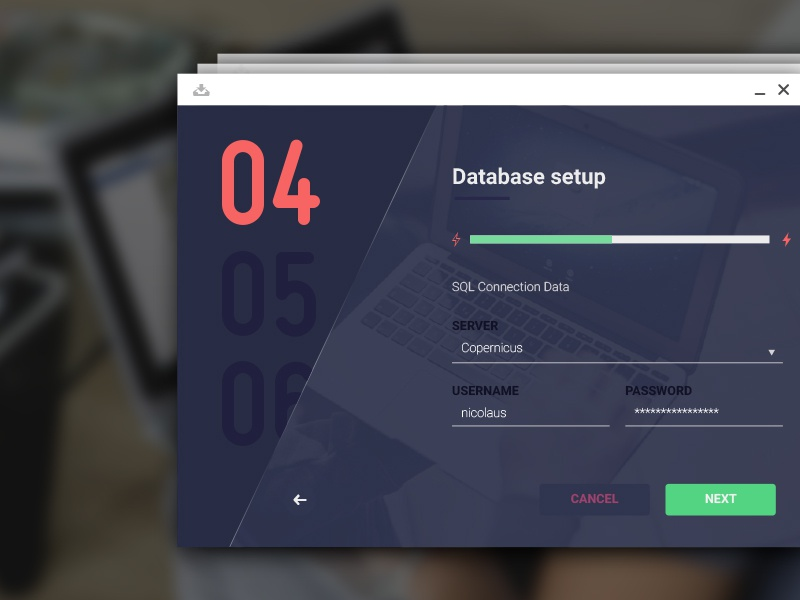 OS Installer user interface os interface app design installer layout flat ui
