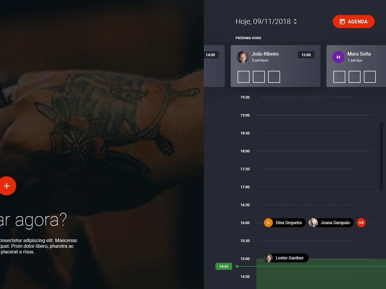 Barber Agenda [WIP] 2 agenda barber ui user ux interface app