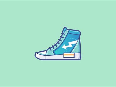 Canvas fitness sport sports canvas shoes branding illustration logo ui vector icon design