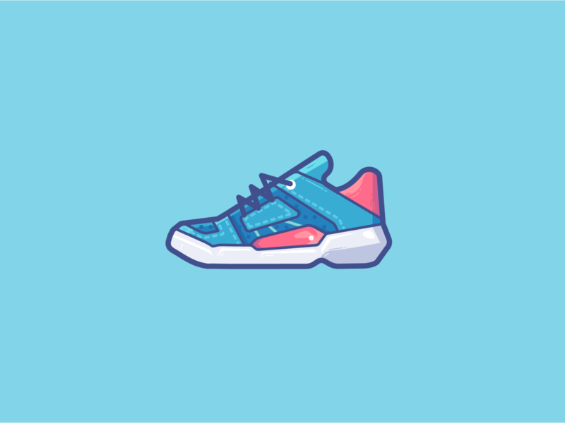 sneaker sneaker sports sport shoes ui logo illustration vector icon design