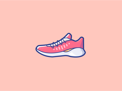 Racing shoes fitness shoes sports sport running branding logo ui illustration vector icon design