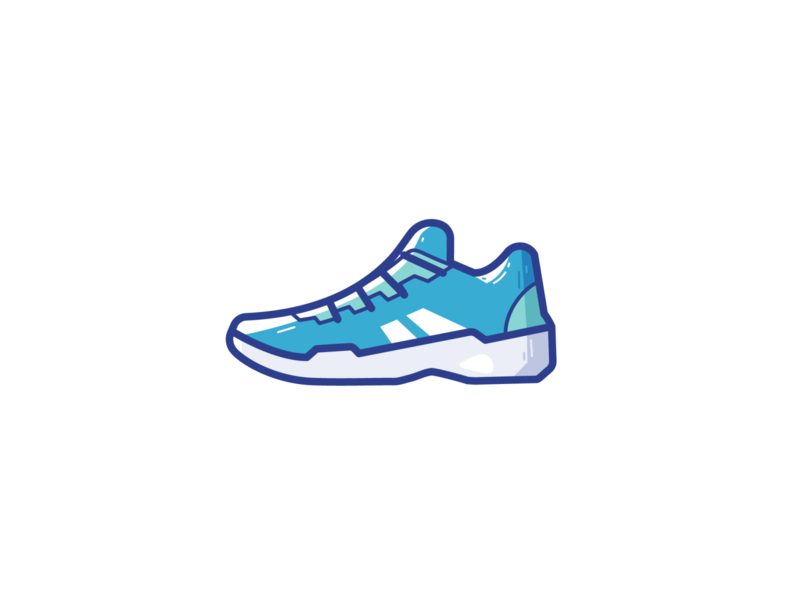 Tennis shoes fitness sports sport shoes branding logo ui illustration vector icon design