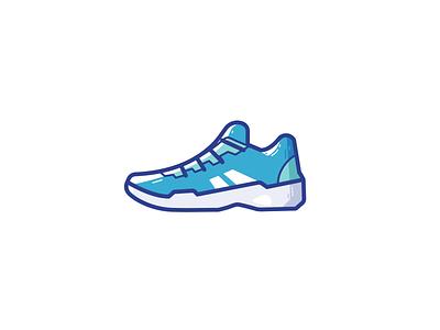 Tennis shoes fitness sports sport shoes branding logo ui illustration vector icon design