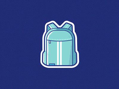 Backpack sports sport backpack bag branding logo ui illustration vector icon design