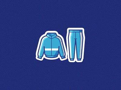 Sweat Suit fitness branding logo ui illustration vector icon design sports sport