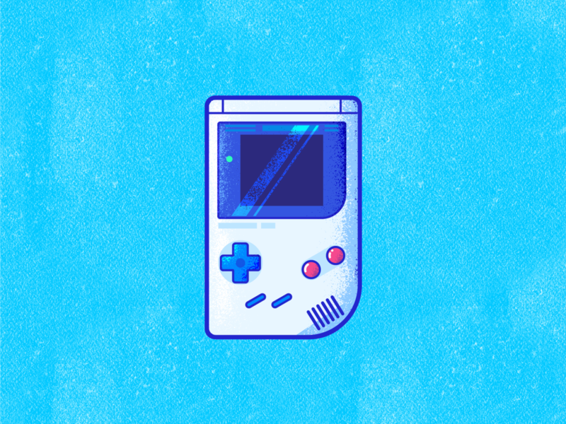 Gameboy texture grain retro entertainment player play nintendo gameboy game illustration vector icon design