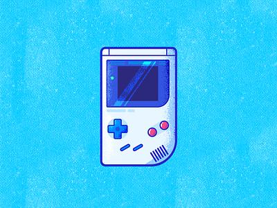 Gameboy texture grain retro entertainment player play nintendo gameboy game illustration vector icon design