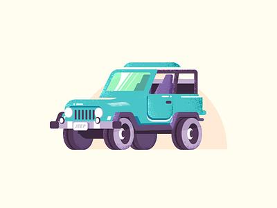 SUV grain traffic vehicle suv car illustration vector icon design