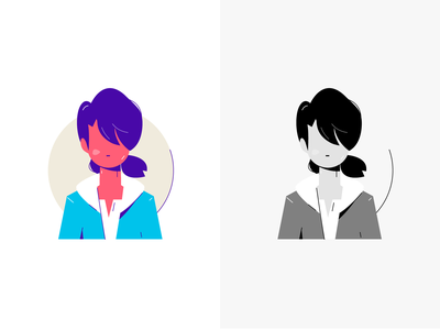 Clementine people flat vector character girl the walking dead illustration design clementine