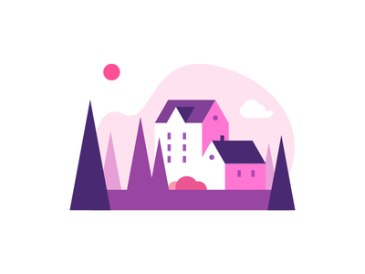 Small Town town vector icon ui illustration design