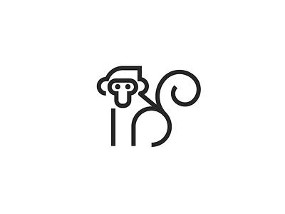 Monkey monkeys monkey animal art animal logo vector icon design
