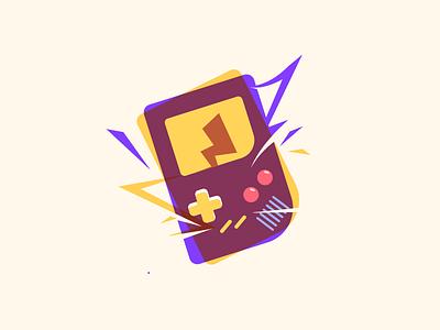 Gameboy adobe illustrator retro oldstyle pikachu pokemongo pokemon nintendo gameboy color game gameboy branding logo vector illustration icon design