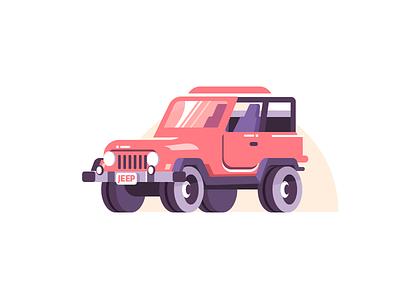 SUV jeep traffic truck car vehicle suv graphic adobe illustrator adobe vector illustration icon design