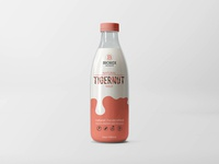 Milk Bottle Label Design