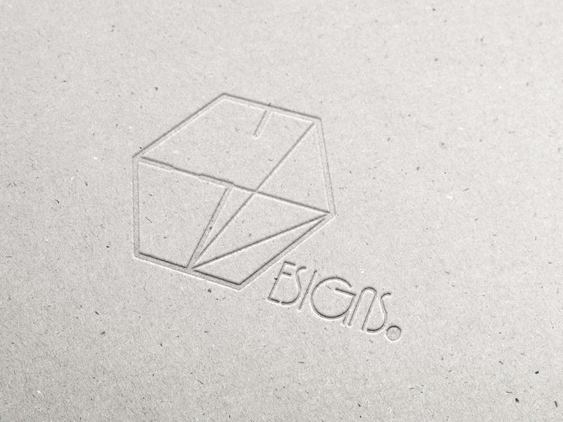 Pressed Cardboard ED Logo pressed cardboard logo design logo design