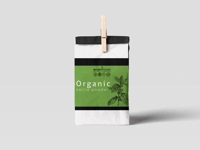 Organic powder packaging design