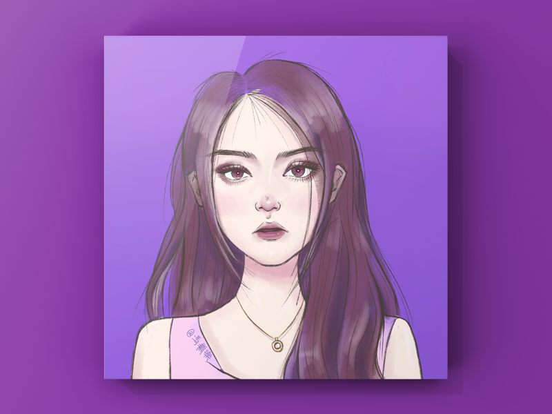 A girl illustration
