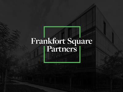 Frankfort Square Partners real estate investment property square frankfort square partners identity design identity branding logo design logo