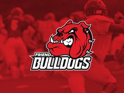 Friend Bulldogs aggressive mean teeth high school team branding team sports logo sports friend bulldogs dog bulldog identity design identity branding logo design logo