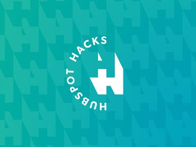 HubSpot Hacks negative space monogram h hack hubspot identity design identity branding logo design logo