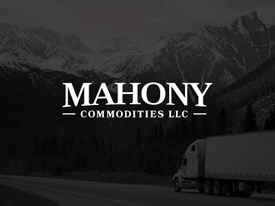 Mahony Commodities wordmark transportation shipping trucking commodities mahony identity design identity branding logo design logo