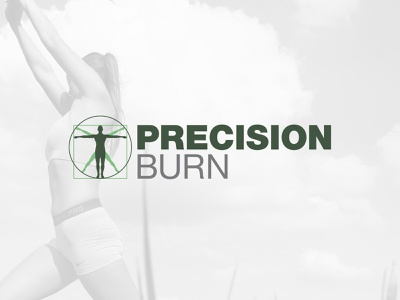 Precision Burn personal trainer personal training personal fitness fitness precision burn identity design identity branding logo design logo