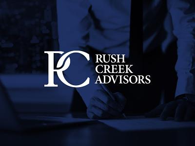 Rush Creek Advisors financial rc monogram consulting advisors creek rush identity design identity branding logo design logo
