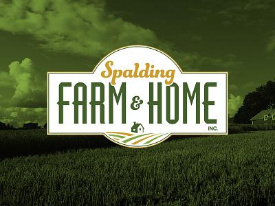 Spalding Farm & Home spalding home improvement hardware store store retail home farm identity design identity branding logo design logo