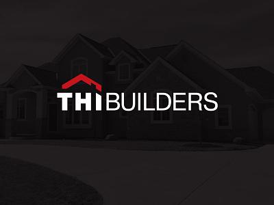 THI Builders contractors contractor construction building builders home builders home roof real estate home building house identity design identity branding logo design logo