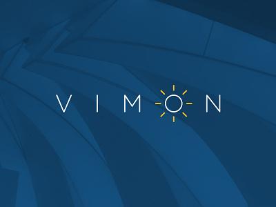 Vimon custom lighting led lighting sun light wordmark vimon identity design identity branding logo design logo