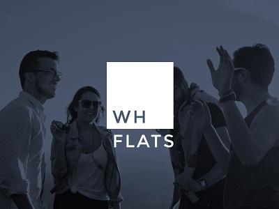 WH Flats home square living apartment housing identity design identity branding logo design logo