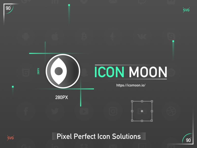 ICON MOON exploded view cut diagram svg green icon 设计 红色 数 块 黑色 ui