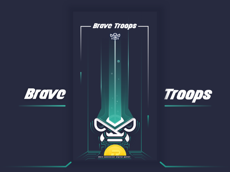 Brave Troops upgrade mythical animals link bytetrade gold coin 插图 绿色 brave troops 块 黑色 ui