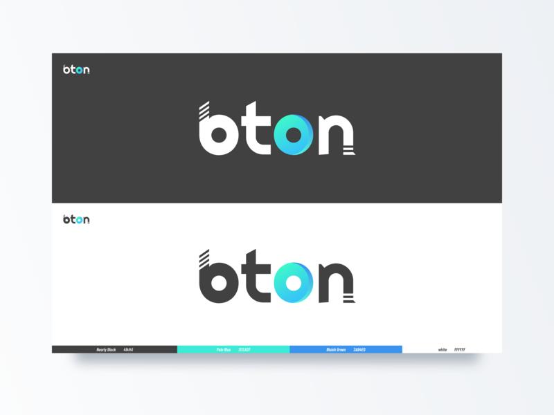 This is the new logo of BTON's public link website blockchain blue white black bton 设计 商标 黑色 ui