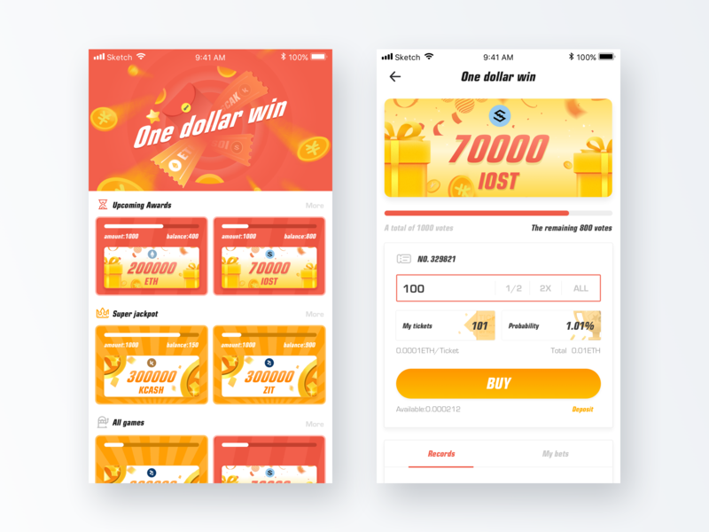 Chromatic Pages at Work banner more super jackpot upcoming awards game room ticket gold coin commodity 红色 块 插图 ui blockchain