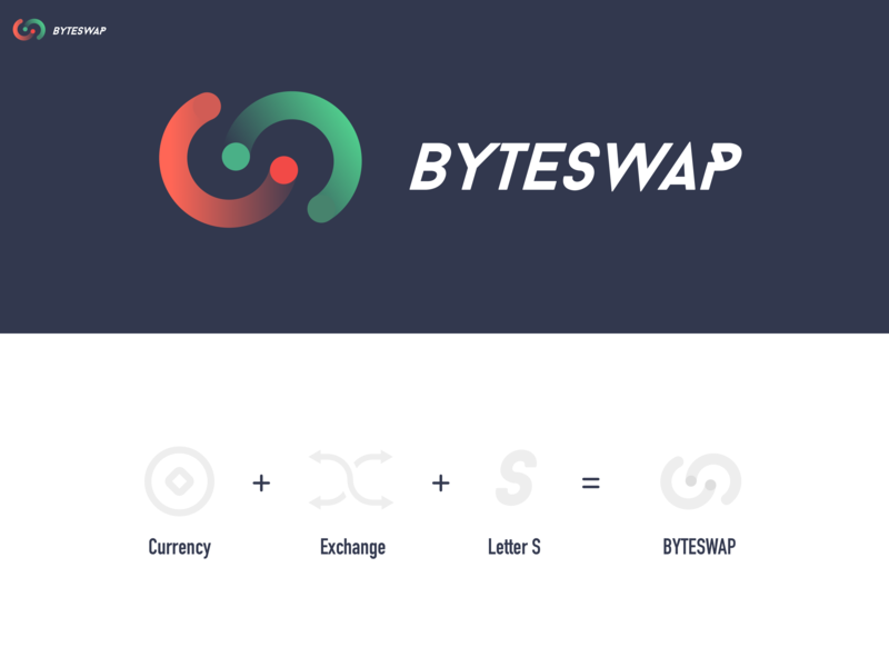 Byteswap Currency exchange logo startup icon red green letter b exchange icon logo blockchain