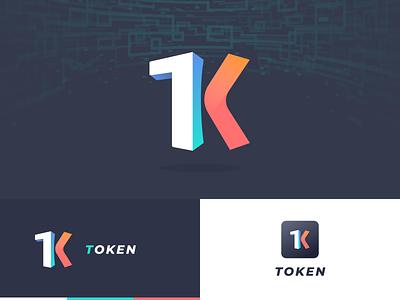 Start icon for new project in block chain k logo t logo token branding logo startup icon blockchain 黑色 ui
