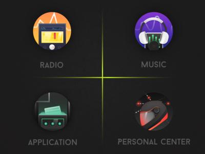 Design of automotive theme Icon