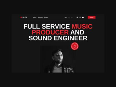 Oles Stepanov Website musician music sound design web minimal interface ux ui web design website