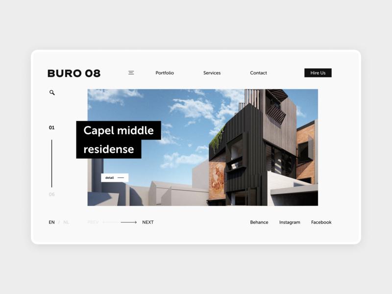 Architect Buro minimal typography ux interface design web ui