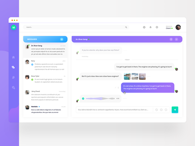 Chat Concept interface inbox white board send voice messager chat box chat bussines dashbaord clean bright web ui ux clean ui