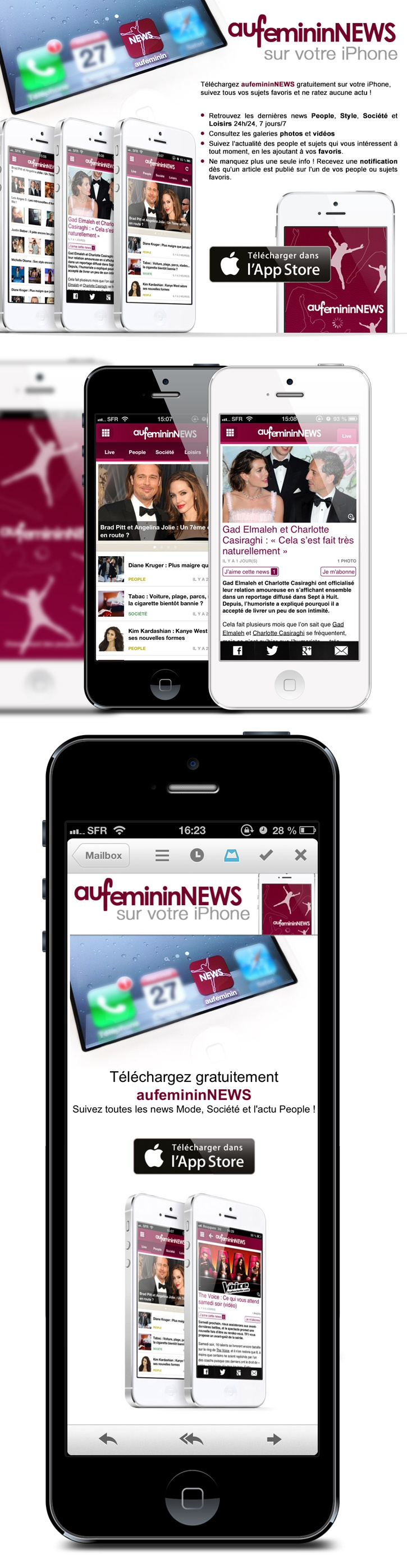 Aufeminin news ios