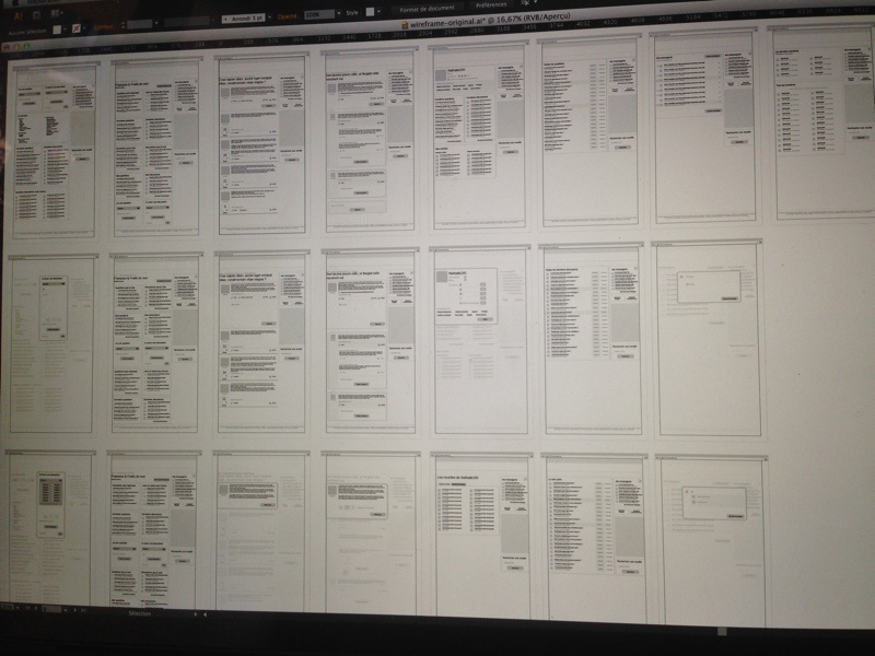 Wireframe - ongoing wireframe illustrator