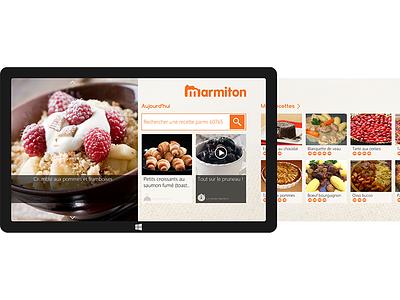 Marmiton V2 - Windows Surface 8.1 marmiton recipes w8 aufeminin sketchapp windows8 illustrator food