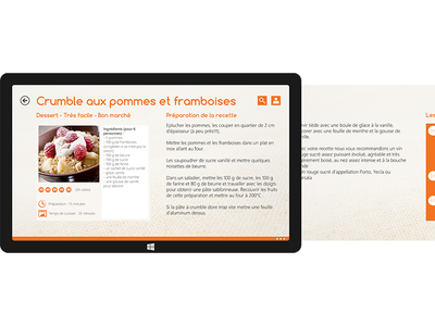 Recipe Marmiton V2 - Windwos Surface 8.1 marmiton recipes w8 aufeminin sketchapp windows8 illustrator