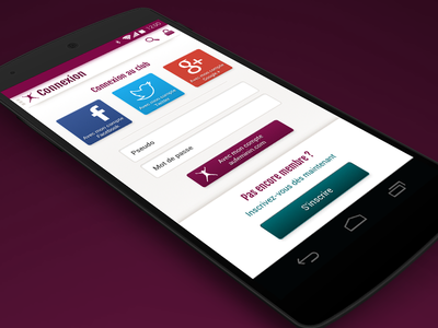 Sign in - Aufeminin.com sign in login android social facebook twitter google plus ui form