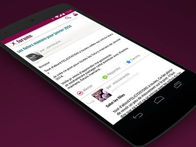Forum Posts - Aufeminin.com forum discussion post message ui android icon