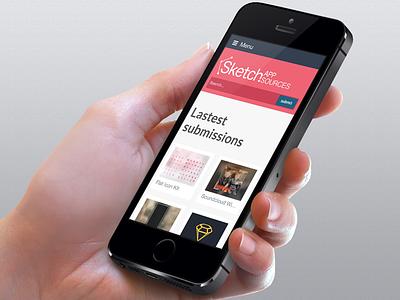 Sketch App Sources - Mobile version sketch sketch app sources responsive mobile website