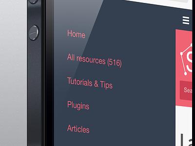 New menu for mobile - Sketch App Sources menu sidebar sketch responsive